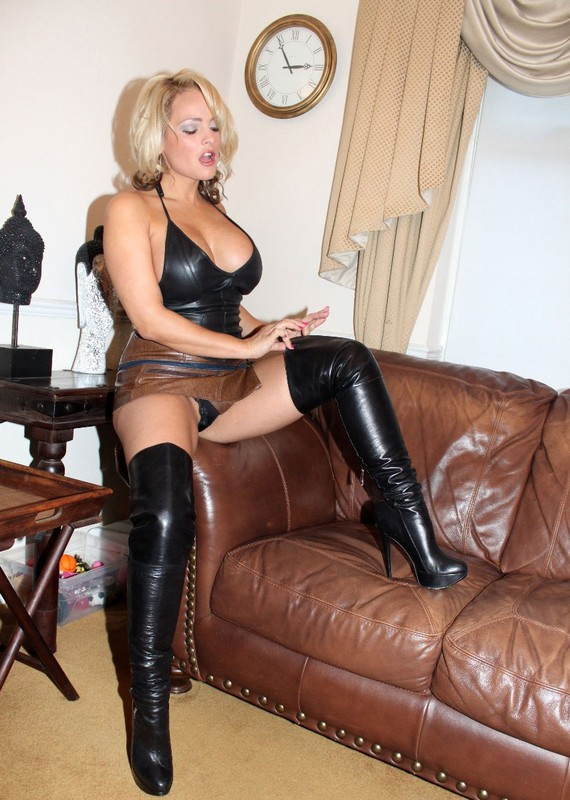 Milf sucking cock in thigh high boots simply excellent