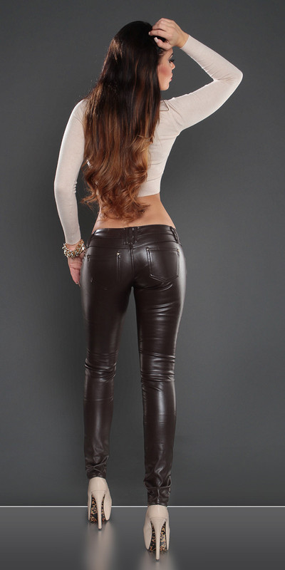 Still going Spank in leather pants